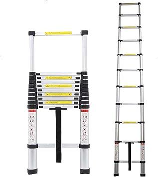Rutschfeste Stufen und F/ü/ße Mehrzweckleiter 3,2m Teleskopleiter 11 sprossen Aluleiter Ausziehbar Leiter f/ür Dachboden//Dach//B/üro 150 Kg Belastbar