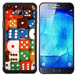 """Be-Star Único Patrón Plástico Duro Fundas Cover Cubre Hard Case Cover Para Samsung Galaxy A8 / SM-A800 ( Dados Número colorido juego de cartas Poker"""" )"""