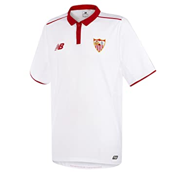 New Balance Sevilla FC Primera Equipación 2016-2017 Niño, Camiseta, Blanco-Rojo