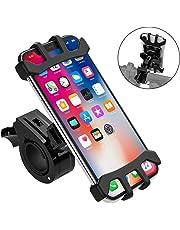 """Soporte Movil Bicicleta Soporte Telefono moto Universal Soporte Bicicleta con Rotación 360° de Ajustable Antivibración para iPhone Samsung de 4.0""""-6.5"""" Pulgadas y Otros Dispositivos"""