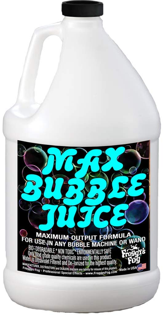 Froggys Fog - 1 Gallon - MAX Bubble Juice Fluid - 10x the Bubbles from Standard Machines by Froggys Fog