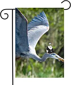 Great Blue Herons Garden Flags House Indoor & Outdoor Welcome Decorations,Waterproof Polyester Yard Decorative for Game Family Party Banner