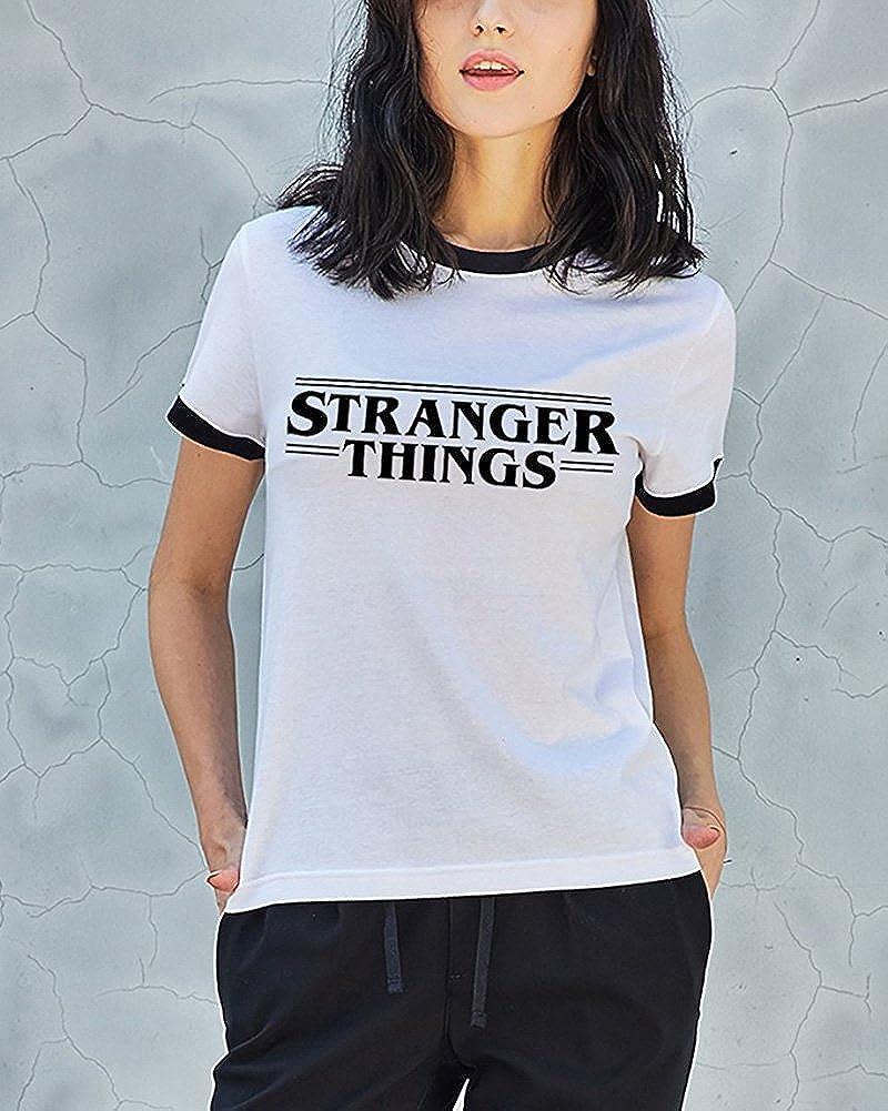 Minetom Verano Amantes Tama/ño Grande Manga Corta Cuello Redondo Camiseta Blusa Mujer Slim Camisa Carta Gato Harry Gafas Impresi/ón T-Shirt Tops