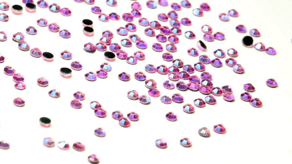 Color Rosa 500 Pink AB DMC Basic SS10 Pilas AAA con Brillantes