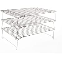 Flagship Cookies Cooling Rack Baking Rack Set of 3, 304 Stainless Steel Wire Rack, Oven Safe Heavy Duty - 14.4'' x 10.43…