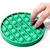 Silicone Pop Bubble Fidget Toy Pop it Fidget Toy Push Pop Pop Bubble Sensory Fidget Toy Stress Reliever (Green-Round)
