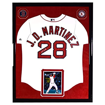 22406809c21 Image Unavailable. Image not available for. Color  JD Martinez Elite Framed  and Signed Boston Red Sox Cool Base Replica Home Jersey