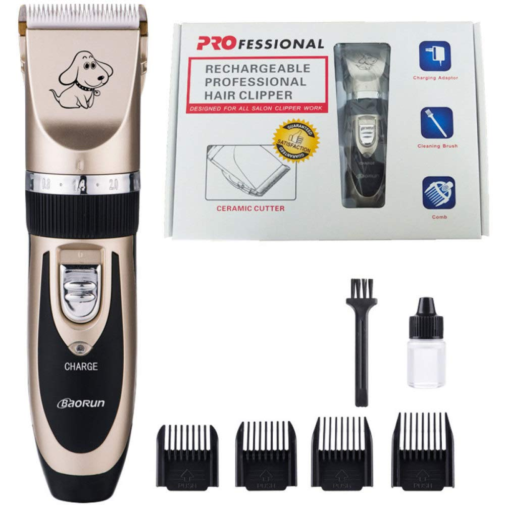 Dog Grooming Hair Clipper Professional Rechargeable Electric Pet Hair Trimming Tool