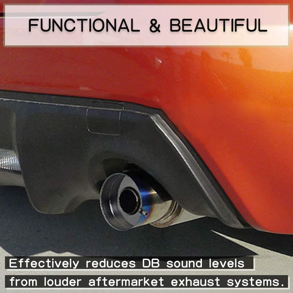 RASNONE Exhaust Muffler Round Removable Silencer 4.29 Stainless Steel TP027-4.5