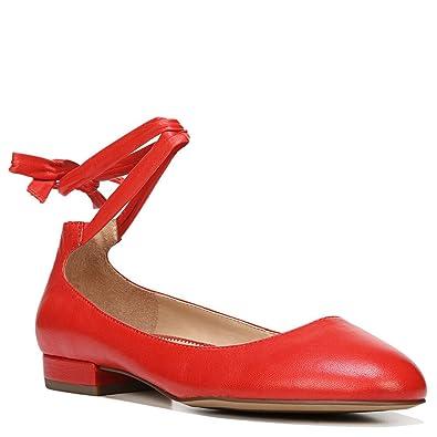 f07e2736871 Franco Sarto Womens Becca Closed Toe Ankle Strap Slide Flats