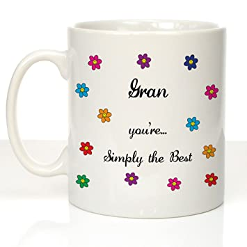 Personalised MugGifts For Best Simply The Gran D2EIYHW9