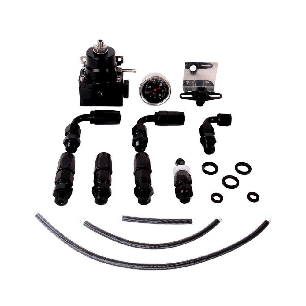 Fireshield Universal JDM Aluminum Billet Fuel Pressure Regulator Gauge