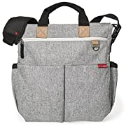 Skip Hop Duo Signature Carry All Travel Diaper Bag Tote with Multipockets, One Size, Grey Melange