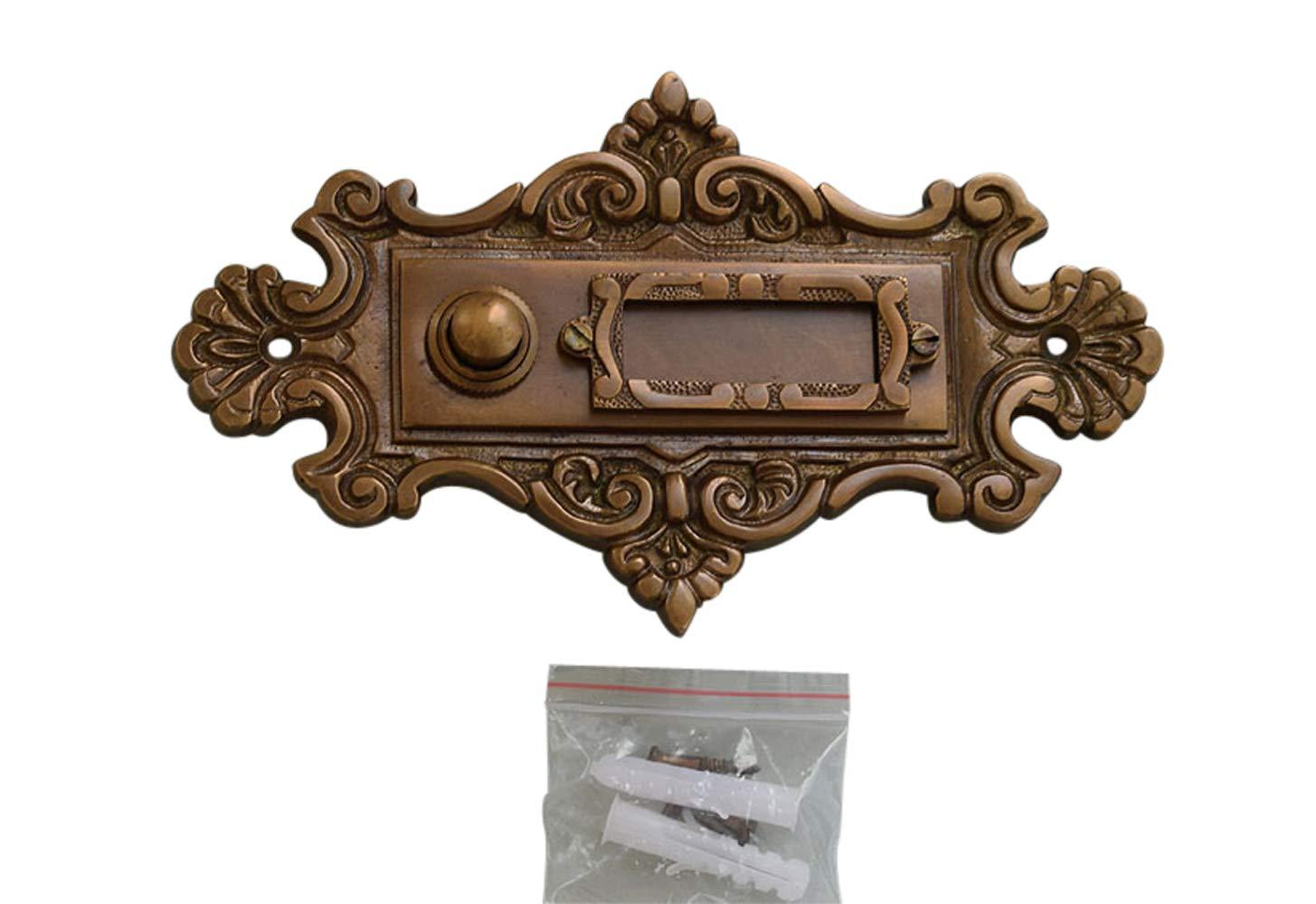 Luxusgriffe Antik Messing Klingel 1 Türklingel Klingelschild Klingelplatte K88A