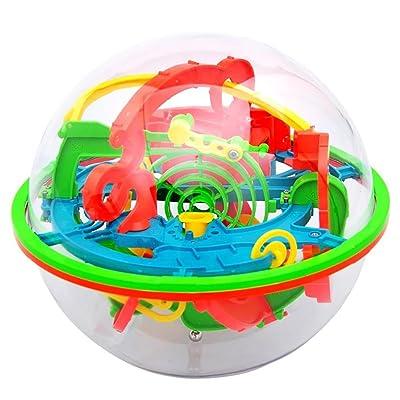 AAGOOD Palacio Bola Laberinto mágico de Inteligencia de la Bola 1 Pack3D Laberinto Rompecabezas de la Bola de Juguete 100 Barreras Labyrint: Juguetes y juegos
