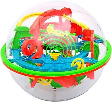 Gcroet 1PC MáGico Laberinto De Bola 100 Barreras De Bolas Laberinto Rompecabezas Del Juguete 3D Bola Laberinto Bola Bola Del Balance Intelecto Maze Para NiñOs Y Adultos: Amazon.es: Bebé