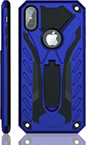 Kitoo Designed for iPhone Xs Max Case with Kickstand, Military Grade 12ft. Drop Tested - Blue