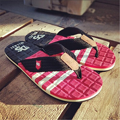 e pelle cm estive Scarpe Impermeabile da Sandali da Sandalo in spiaggia antiscivolo da da uomo Melodycp uomo estivi 27 Rosso uomoCasual 24 5 bagnato Infradito Ez7qcRznHF