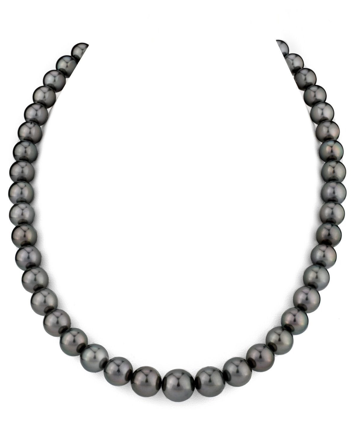14K Gold 8-10mm Tahitian South Sea Cultured Pearl Necklace - AAA Quality, 16'' Choker Length