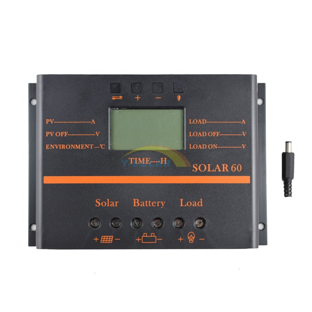 Y-SOLAR 60A Solar Battery Regulator Charge Controller with 12V 24V auto 5V USB Output by Y-SOLAR