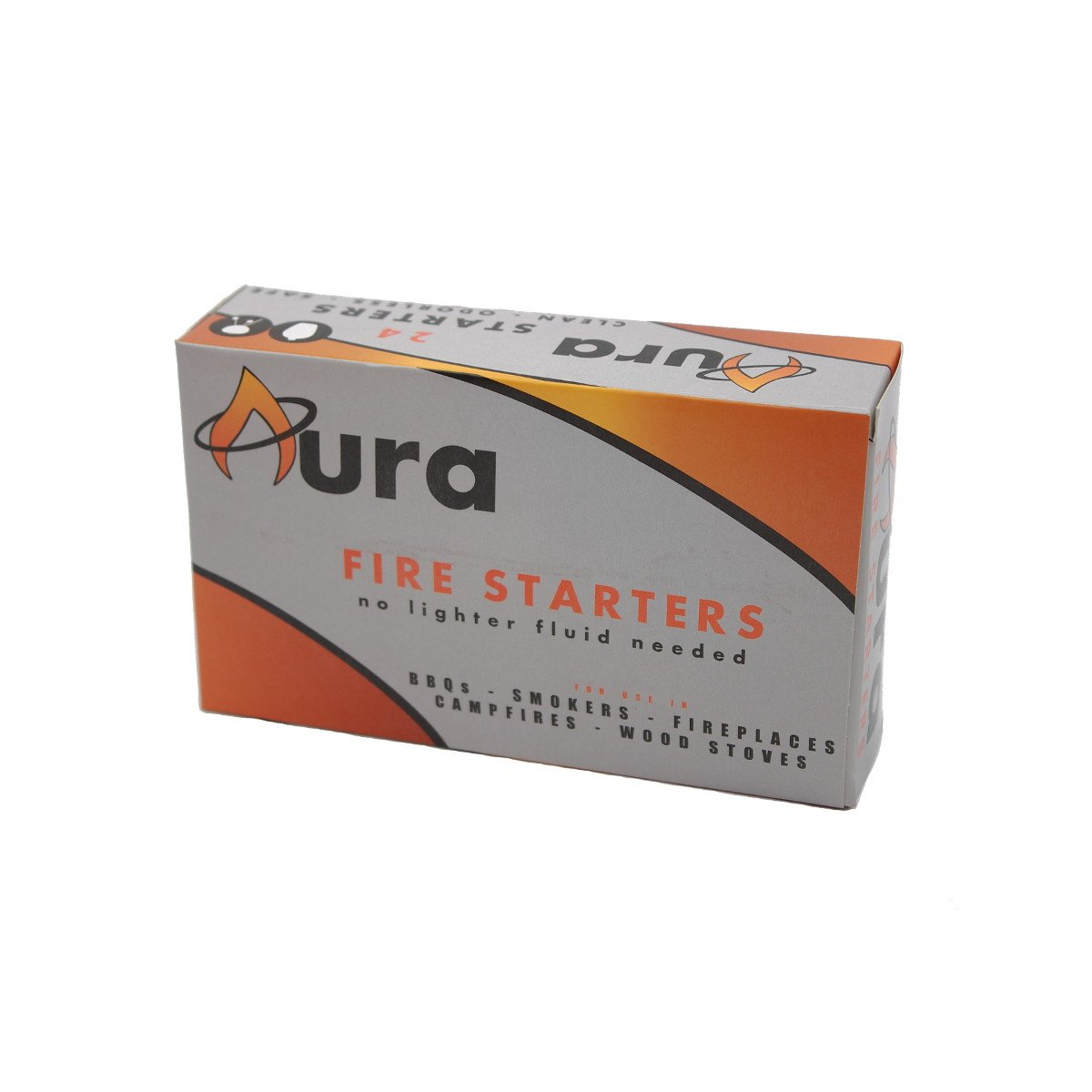 Aura Outdoor Products AOP-FS24 All Natural Charcoal Fire Starters 24-Count for Big Green Egg, Kamado Joe, Weber Kettle AOP-FS30