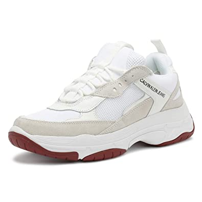 info for 2bdae 9ad37 Calvin Klein Jeans Herren Weiß Marvin Chunky Sneakers ...