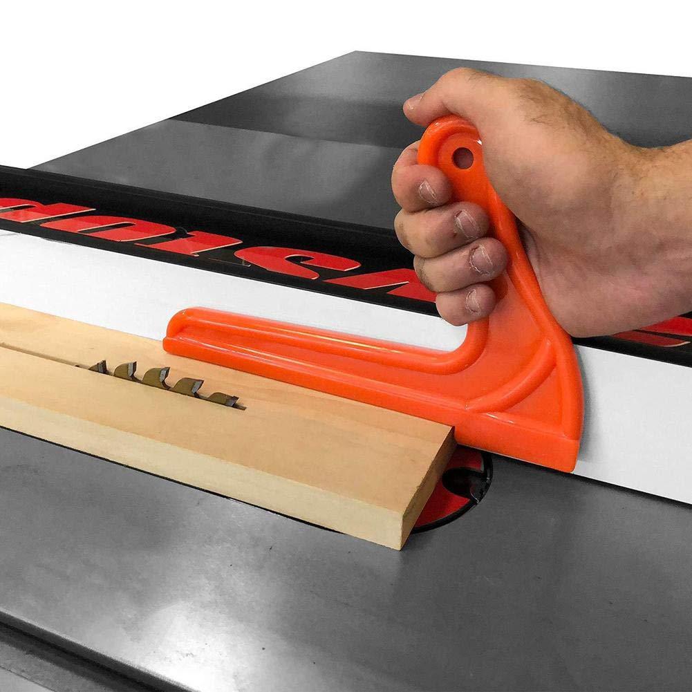 miraculocy 5 UNIDS Safety Push Block y Stick Orange Safety Push Stick Set con Bloques de Empuje y una Herramienta de carpinter/ía de Tablero de Plumas con localizador de Perforaciones