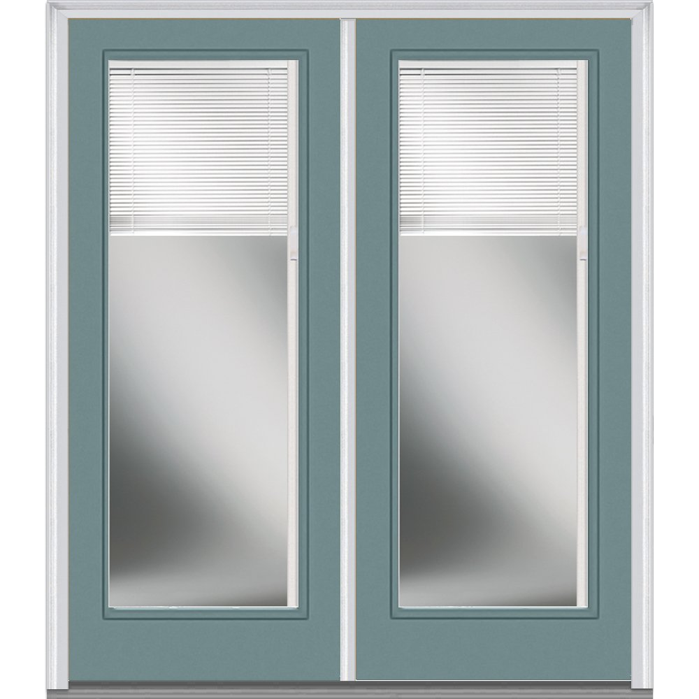 National Door Company Z010439L Steel Riverway, Left Hand In-swing, Prehung Door, Full Lite, Clear Low-E Glass with RLB, 60'' x 80'' by National Door Company (Image #1)