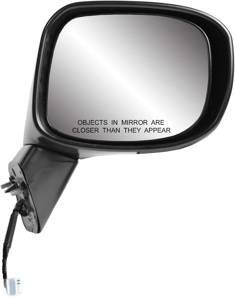 textured black w//PTM cover, w//turn signal, foldaway P R Passenger Side Mirror for HONDA Civic Hybrid,