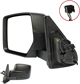 ZENITHIKE Black Textured Passenger Side Mirror Fit for 2007-2014 Jeep Patriot Power Adjustment Manual Folding Replacement Part