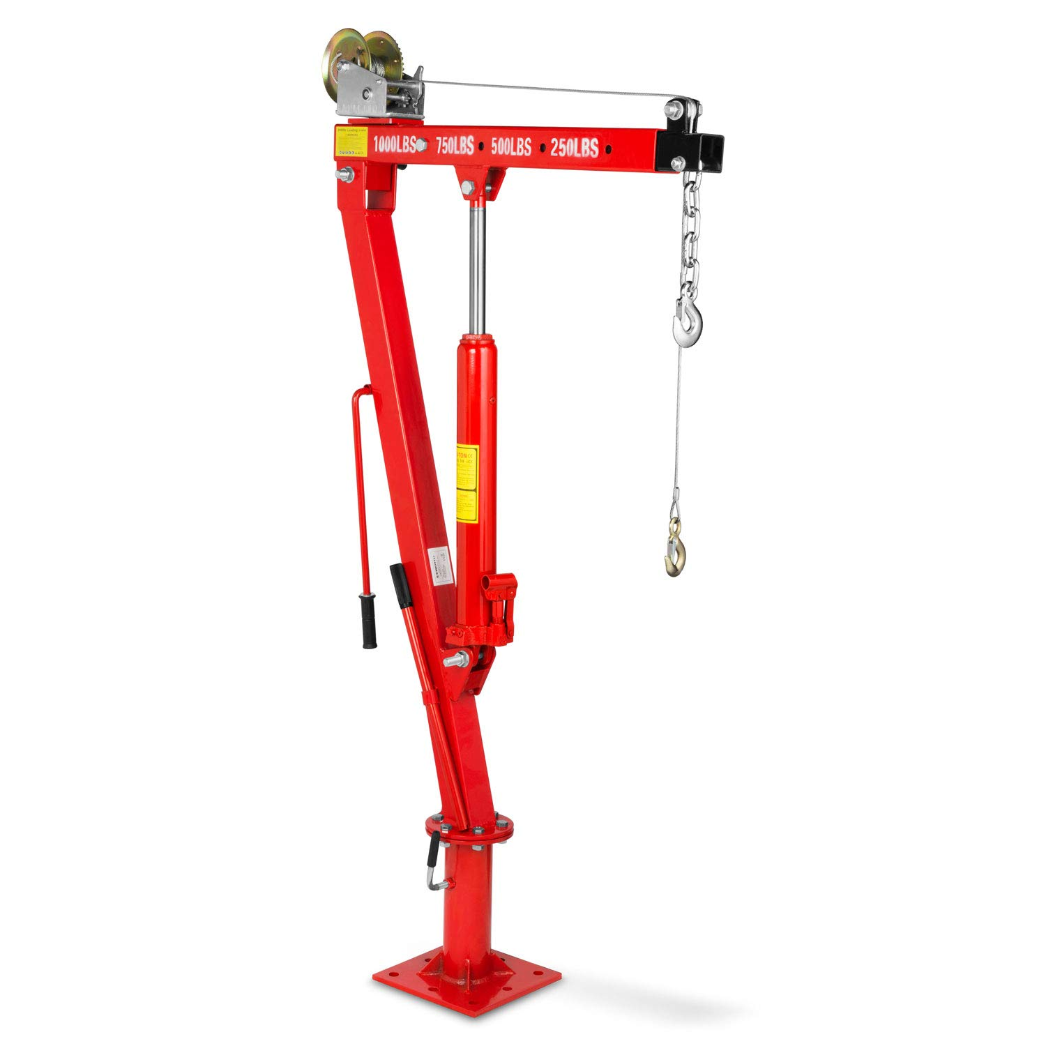 EBERTH Professional Drywall Lift XXL 217-460 cm Working Height, 68 kg Payload, 290 cm Load arm width, Height-adjustable, Foldable
