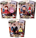 Gravity Falls 3-Inch Action Figure 2-Pack Bundle: Dipper Pines & Barfing Gnome, Mabel Pines & Waddles, Grunkle Stan & Bill Cipher