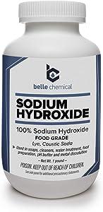 Sodium Hydroxide - Pure - Food Grade (Caustic Soda, Lye) (1 Pound Jar)