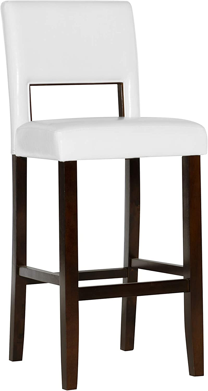 Amazon Com Linon Vega Bar Stool 30 Furniture Decor