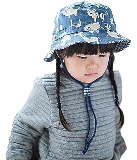 d81954c96618 Bigood Chapeau de Soleil Enfant Bébé Coton Bonnet Souple Pêche ...