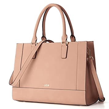 6e3fdf5c6376 Kadell Womens Large Capacity Matte PU Leather Tote Handbags Purse Shoulder  Satchel Bags for Work Shopping Date Party Beige  Amazon.co.uk  Luggage