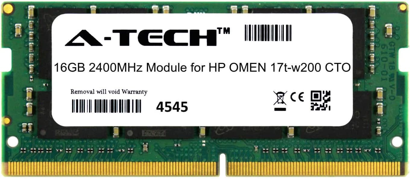 A-Tech 16GB Module for HP OMEN 17t-w200 CTO Laptop /& Notebook Compatible DDR4 2400Mhz Memory Ram ATMS378232A25831X1
