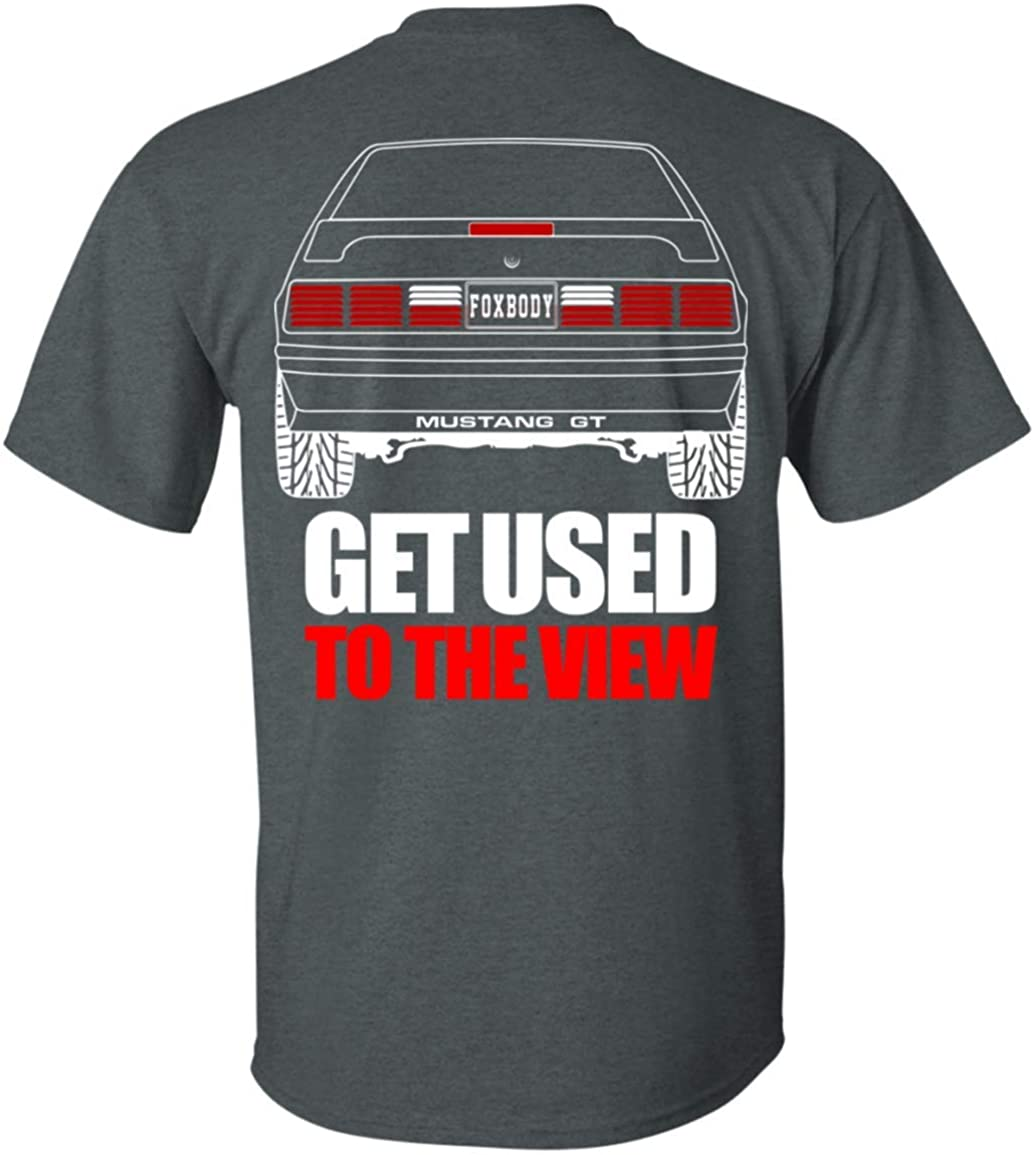 Wheel Spin Addict Mens Mustang Foxbody GT Double Sided T-Shirt
