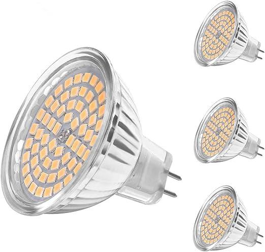 SanGlory - Bombillas LED MR16 GU5.3, 4 paquetes de 5 W ...