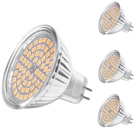 SanGlory - Bombillas LED MR16 GU5.3, 4 paquetes de 5 W, equivalente