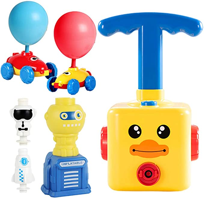 Amazon.com: NEXTAKE Balloon Powered Car and Launcher Set, Creative Balloon Power Racer Air Inertial Car Toy Balloon Launch Toy Launch Pad with 12 Balloons (Duck with Launch Tower 2): Toys & Games
