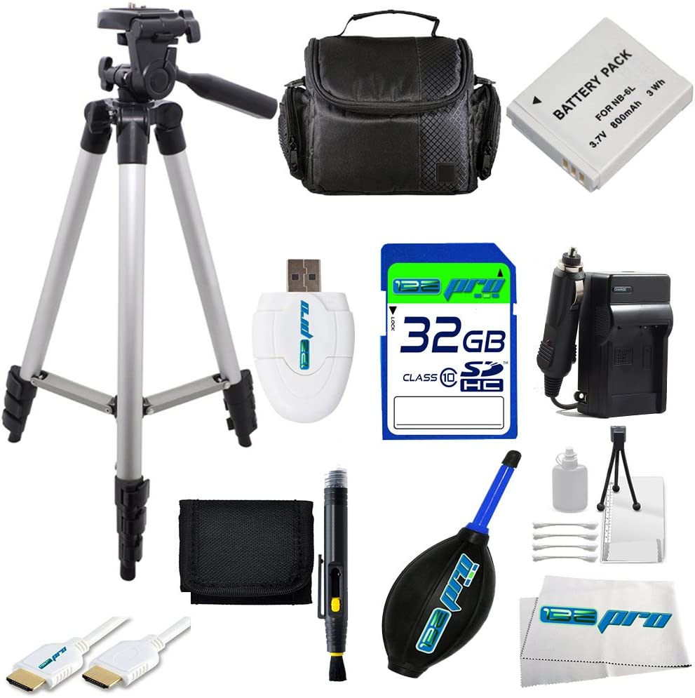 I3e Pro 32GB Starter Kit with NB6L//NB6LH Battery for Canon SX710 HS SX700 HS SX610 HS SX600 HS SX530 HS SX520 HS SX510 HS SX280 HS Cameras