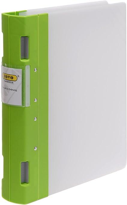 Novo compartimento de Off carpeta Ergo A4 4 anillas Lime 10ér Pack: Amazon.es: Oficina y papelería