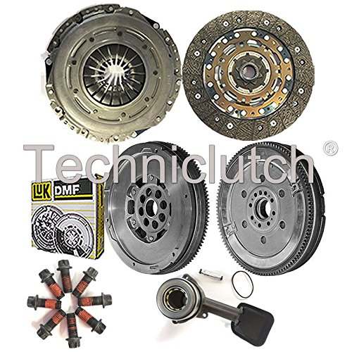 4 PART KIT WITH BOLTS NATIONWIDE CLUTCH DISC DRIVEN PLATE AND PRESSURE PLATE AND LUK DUAL MASS FLYWHEEL AND CSC 8944780122694