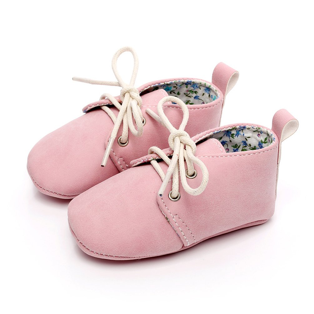 962bcf62f2a7f HONGTEYA Baby Girl Boy Lace-up Soft Sole Moccasins Anti-Slip Newborn ...