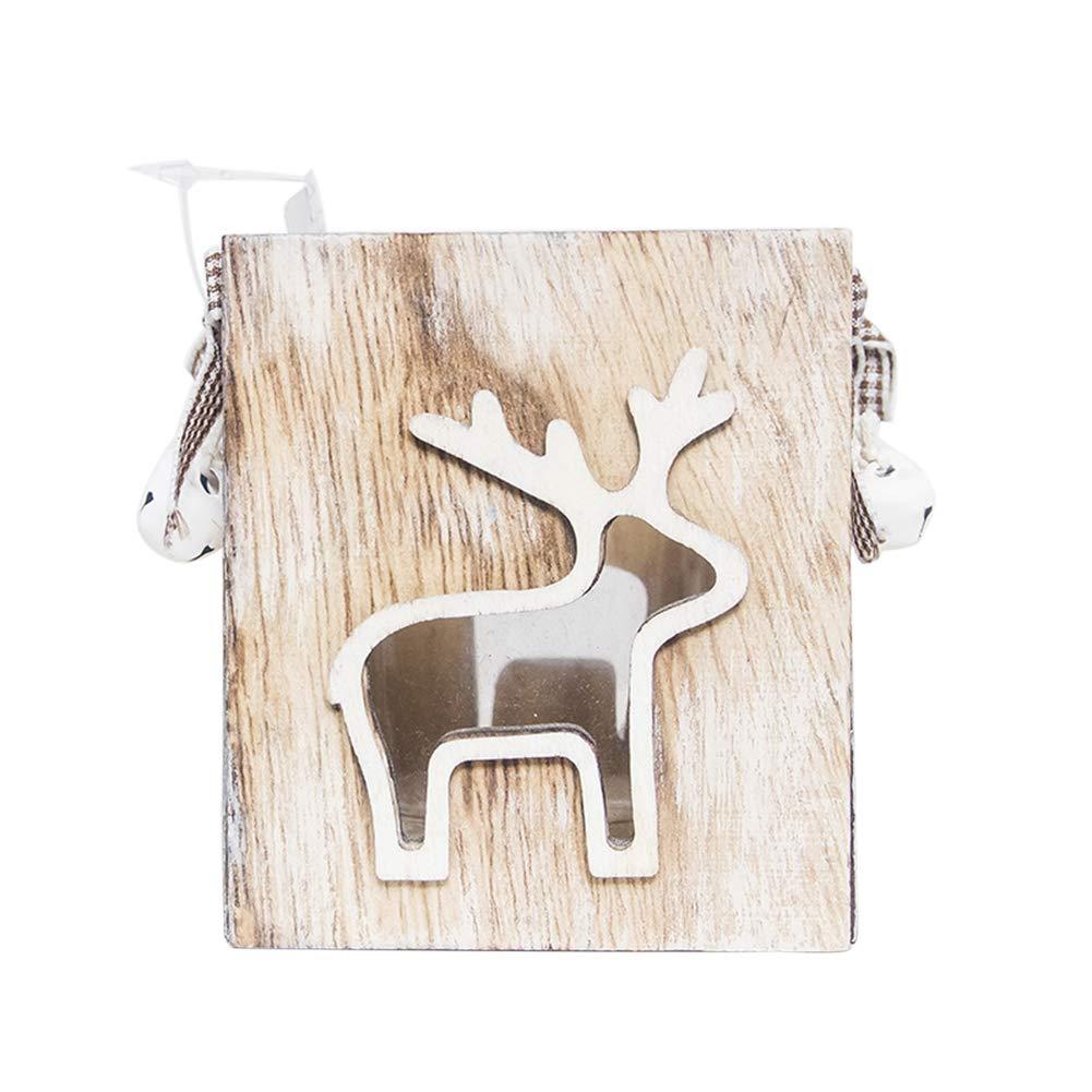Slendima 3.07'' x 3.54'' Lovely Xmas Santa Claus/Elf/Snowman Candlestick Windproof Candle Holder Home Decor Elk #