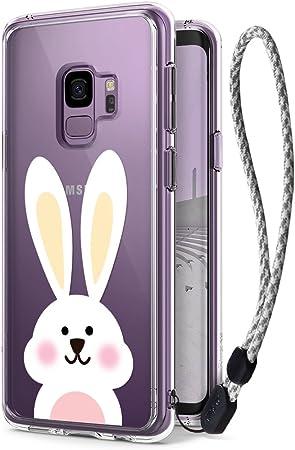 Ringke Fusion [Deco Lindo Conejo Calcomanía + Estuche con Correa de Muñeca] Compatible con Funda Galaxy S9: Amazon.es: Electrónica