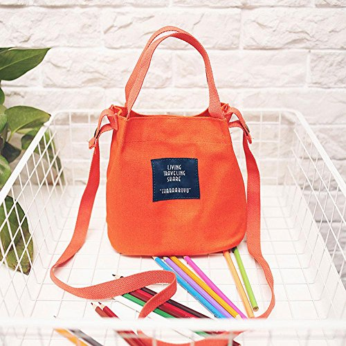 All for match Shopping Simple Orange Bag Japanese Clothes Bag Style Kawaii Shoulder Bags Crossbody Messenger Duffle Canvas Red Thick Grocery Canvas Tote Multifunctional Women Aolvo 7w6TO1n