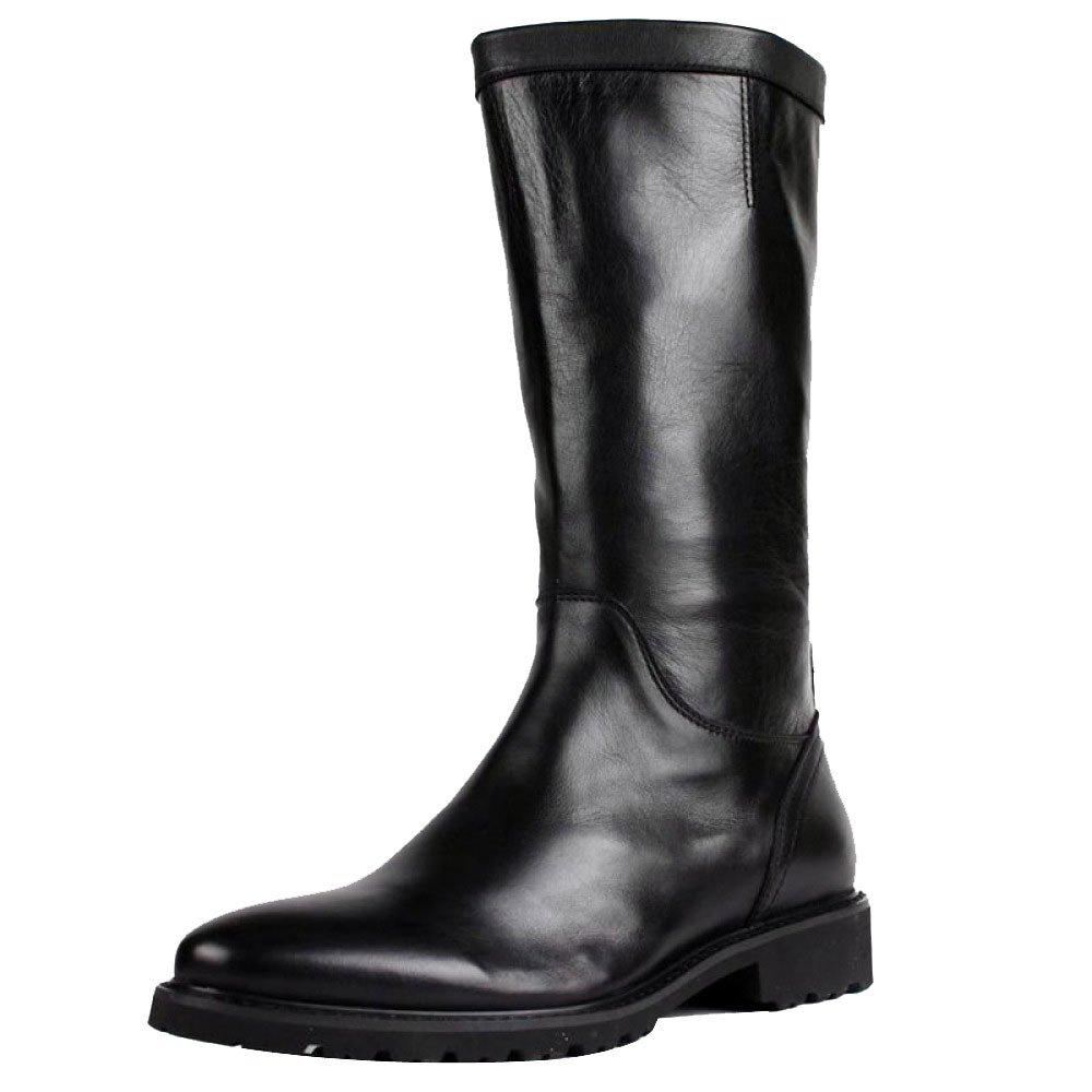 DHFUD Zapatos De Cuero para Hombres Inglaterra Señaló Botas Martin 43 EU|Black