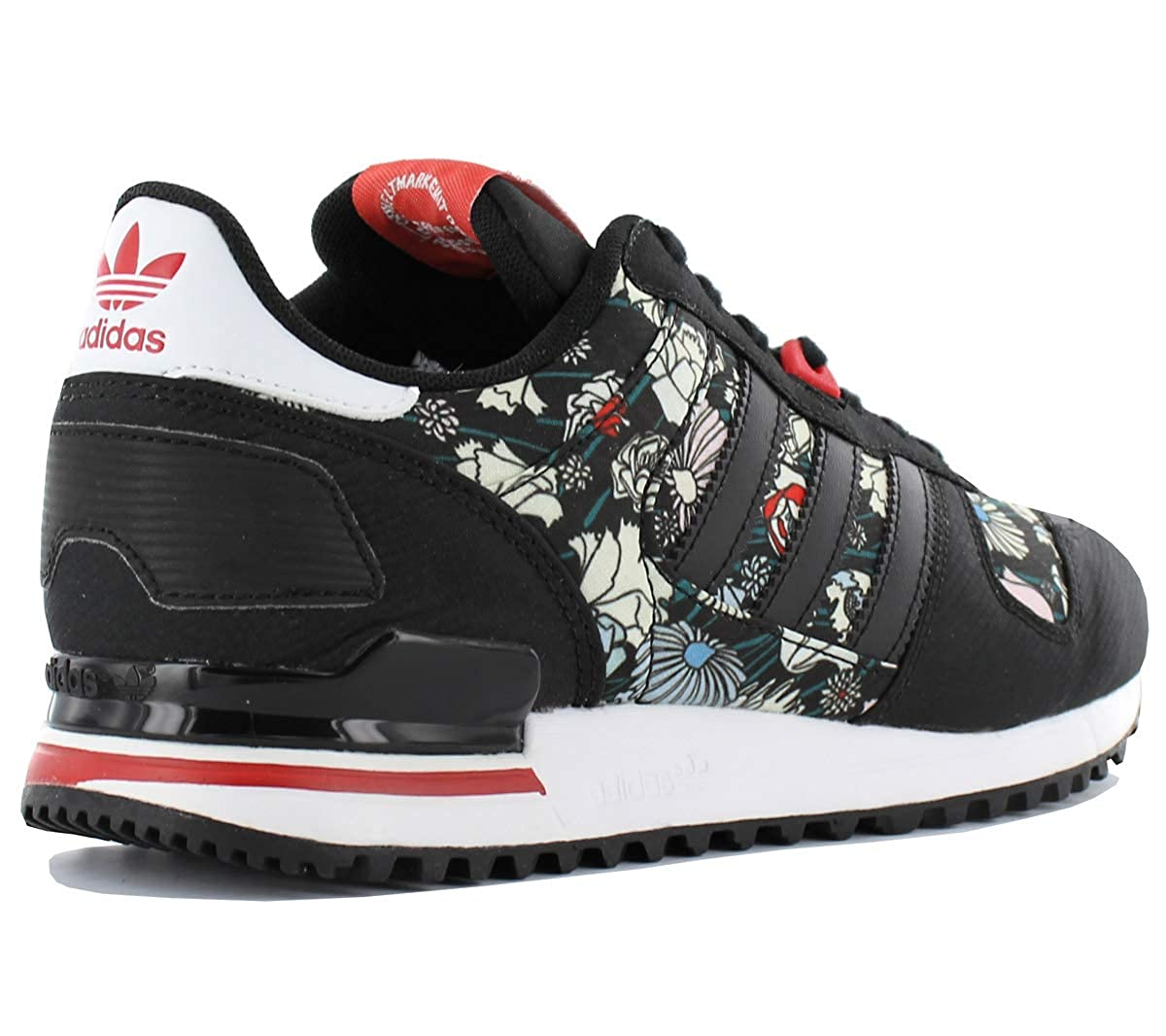 3661138c39e281 adidas Originals ZX 700 W Damen Schuhe Schwarz Blumen Muster Fashion  Sneaker Trend Turnschuhe Sportschuhe  Amazon.de  Schuhe   Handtaschen